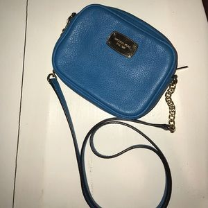 Michael Kors Crossbody Teal with Gold Chain